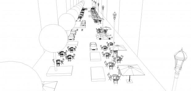 Schemat proponowanych zmian wnętrza ulicy (materiały FRW)